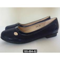 Балетки для девочки, 35 размер, школьные туфли, супинатор, кожаная стелька, 105-004-02