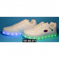 Детские светящиеся кроссовки, USB, 33,34,35,36,37 размер, 11 режимов LED подсветки, супинатор, 107-93-371